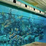граффити на стене. Подводный мир